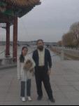 Katie, Milo and Dan on Qufu waterfront